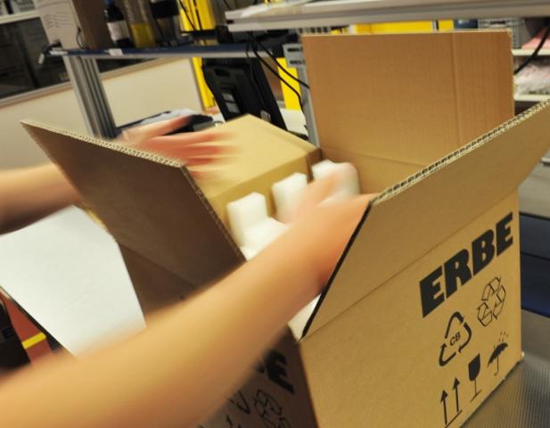 News - Central: Zertifizierter Versand bei der ERBE Elektromedizin GmbH