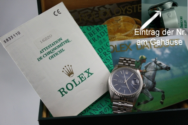 Shopping -News.de - Shopping Infos & Shopping Tipps | Beispiel einer Rolexuhr aus dem Jahrgang 1996