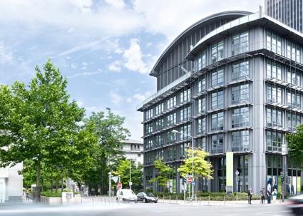 Versicherungen News & Infos | Sitz des neuen Apontas Sales Office: die ehemalige T-Systems Niederlassung an der Mainzer Landstraße in Frankfurt.