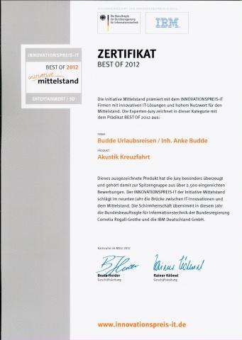 Kreuzfahrten-247.de - Kreuzfahrt Infos & Kreuzfahrt Tipps | Auszeichnung Initiative Mittelstand Zertifikat