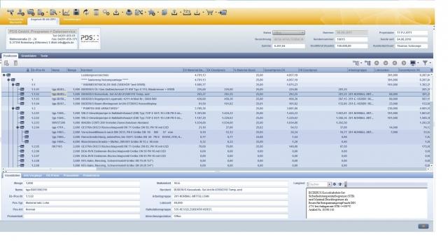 Sachsen-Anhalt-Info.Net - Sachsen-Anhalt Infos & Sachsen-Anhalt Tipps | Handwerkssoftware-Spezialist PDS präsentiert mit pds abacus (Screenshot: Kalkulation) die neueste, cloud-fähige Softwaregeneration