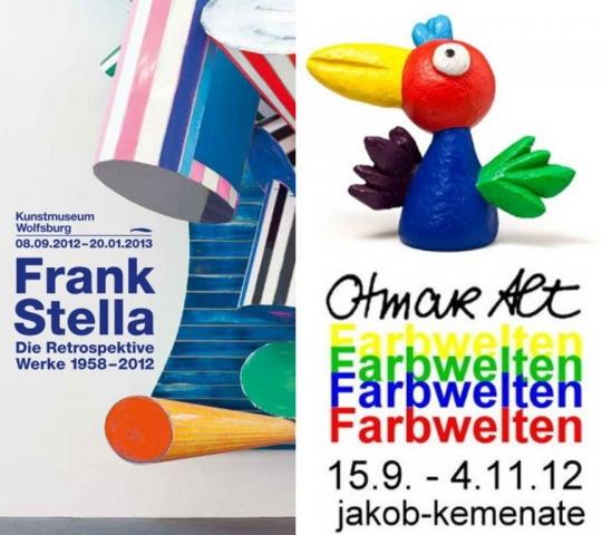 Ciao-Bella-Fans.de | Frank Stella Kunstmuseum Wolfsburg Ausstellung Otmar Alt jakob-kemenate Braunschweig