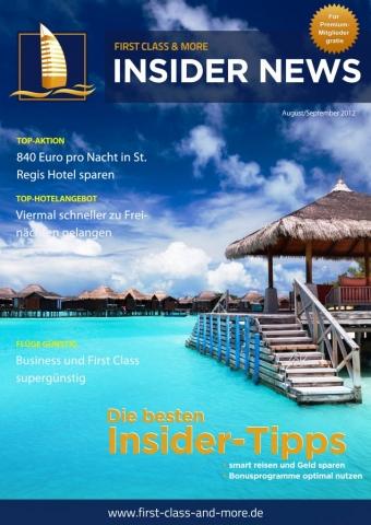 Gutscheine-247.de - Infos & Tipps rund um Gutscheine | First Class & More Insider News August 2012