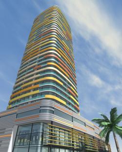 Ost Nachrichten & Osten News | Ost Nachrichten / Osten News - Foto: Wohntower 'Burjside Boulevard' in Dubai, Entwurf: Koschany + Zimmer Architekten KZA.