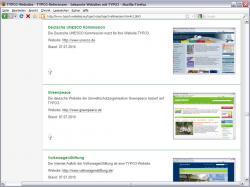 Freie Software, Freie Files @ Freier-Content.de | Foto: Auszug Referenzsammlung TYPO3-Websites.