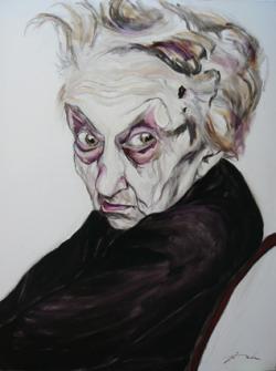 SeniorInnen News & Infos @ Senioren-Page.de | Foto: In den Bildern von Victor Dolz kann man alte Menschen, kranke Körper in Rollstühlen oder Bettler auf den Straßen sehen. Seine Art zu porträtieren entblößt den Charakter und zeigt ihre schwachen Seiten. Es sind Einblicke in das Innere der Seele, um das Verlassensein, das Elend und die Hinfälligkeit anzuprangern. Gescheiterte Menschen, dramatische Momente, blutbeschmierte Blicke.