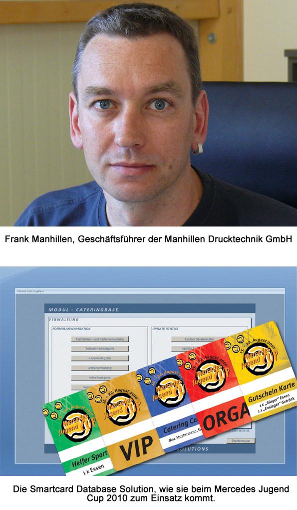 Stuttgart-News.Net - Stuttgart Infos & Stuttgart Tipps | Frank Manhillen, Geschäftsführer der Manhillen Drucktechnik GmbH und die Oberfläche der Smartcard Database Solution