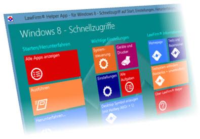 Technik-247.de - Technik Infos & Technik Tipps | LawFirm Helper App für Windows 8 – Hilfe beim Einstieg in Win8 (kostenlos zum Download, auch unabhängig von der Anwaltssoftware LawFirm nutzbar)