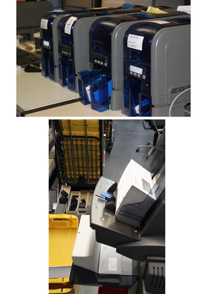 Die neuen Kartenpersonalisierungsmaschinen sowie die neue Falz- und Kuvertiermaschine
