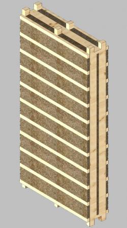 Fertighaus, Plusenergiehaus @ Hausbau-Seite.de | Hausbau & Einfamilienhaus - Foto: Ein Fertigteil aus Holz und Lehm.