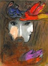 Freie Pressemitteilungen | Abbildung: Marc Chagall, David und Bathseba, Farblithographie aus >> La Bible <<, 1956, Mourlot 132 ©