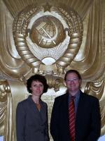 Ost Nachrichten & Osten News | Foto: V.l.n.r. Innovative Unternehmen in Russland unterwegs: Nathalie Wenzel, Russland Experten Consulting und Dr. Jan Toporski, WITec G.