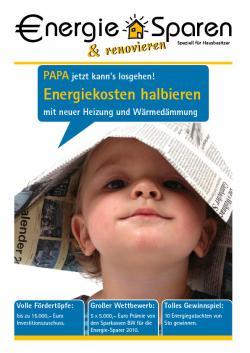 Alternative & Erneuerbare Energien News: Foto: Postwurf Spezial Zeitung Energiesparen & Renovieren.