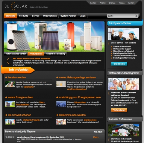 Alternative & Erneuerbare Energien News: 3U SOLAR Systemhandel AG