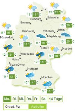 Landwirtschaft News & Agrarwirtschaft News @ Agrar-Center.de | Agrar-Center.de - Agrarwirtschaft & Landwirtschaft. Foto: Wetterkarte zum Proplanta Profi-Wetter (Bild: Proplanta).