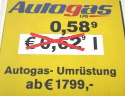 Autogas / LPG / Flüssiggas | Foto: Endlich wieder unter 60 Cent! Der Rotstiftpreis kommt rechtzeitig zum Weihnachtsfest.