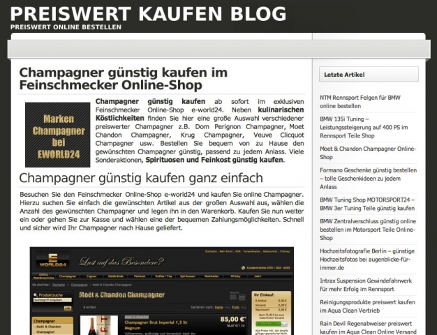 Shopping -News.de - Shopping Infos & Shopping Tipps | Preiswert Kaufen Blog