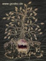 Ost Nachrichten & Osten News | Foto: >> Der Amethystbaum << freie Klöppelarbeit aus 585er Gold mit Amethyst aus Schlottwitz.