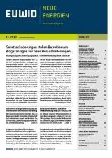 Alternative & Erneuerbare Energien News: Foto: EUWID Neue Energien 11/2012 ist am 14. März erschienen und umfasst 101 Nachrichten auf 36 Seiten.