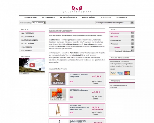 Shopping -News.de - Shopping Infos & Shopping Tipps | ASP-Galeriebedarf GmbH
