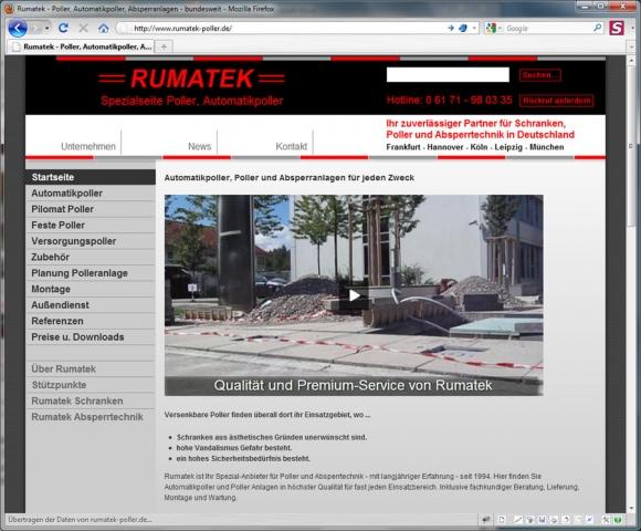 CMS & Blog Infos & CMS & Blog Tipps @ CMS & Blog-News-24/7.de | Rumatek GmbH Schranken, Poller, Absperrtechnik
