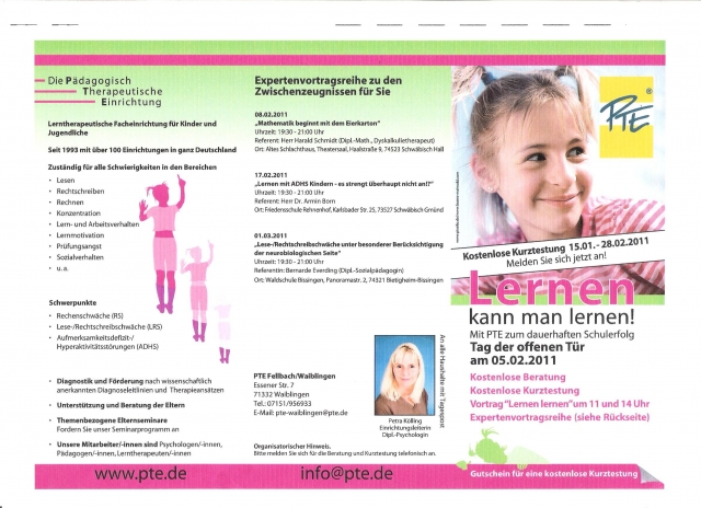 Stuttgart-News.Net - Stuttgart Infos & Stuttgart Tipps | Pädagogisch Therapeutische Einrichtung (PTE) Franchise GmbH