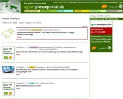 Landwirtschaft News & Agrarwirtschaft News @ Agrar-Center.de | Agrar-Center.de - Agrarwirtschaft & Landwirtschaft. Foto: Screenshot Agrar-Presseportal (Bild: Proplanta).