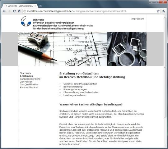 Dirk Velte, Sachverständiger Metallbau/Metallgestaltung