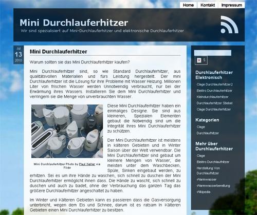 MiniDurchlauferhitzer.com