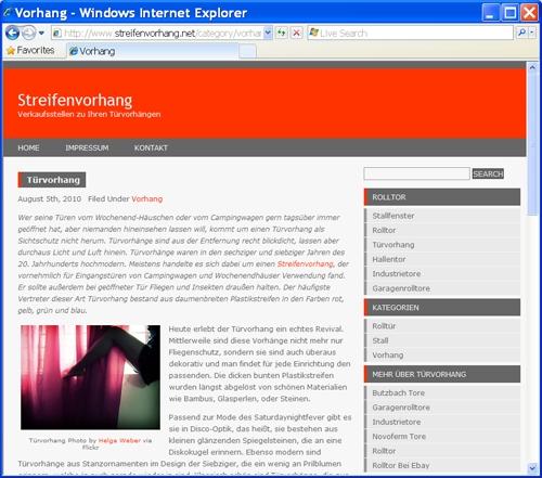 Streifenvorhang.net