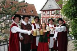 Bier-Homepage.de - Rund um's Thema Bier: Biere, Hopfen, Reinheitsgebot, Brauereien. | Foto: Kronacher Kunigunden-Maß: Im oberfränkischen Kronach wird mit historischer Biereinheit angestoßen.