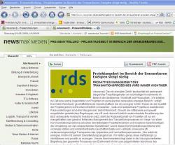 Alternative & Erneuerbare Energien News: Foto: rds energies GmbH ist ein international tätiges Dienstleistungsunternehmen im Markt der erneuerbaren Energie mit Sitz in Berlin.