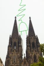 Alternative & Erneuerbare Energien News: Foto: Kunstaktion zum ÖkoGlobe von H.A. Schult.