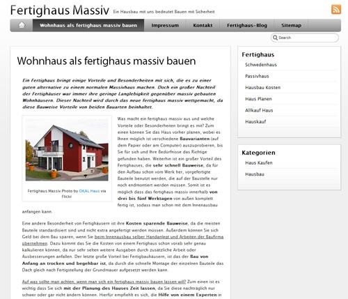 Fertighaus, Plusenergiehaus @ Hausbau-Seite.de | FertighausMassiv.com