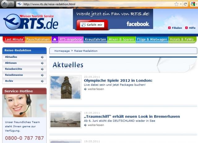 Kreuzfahrten-247.de - Kreuzfahrt Infos & Kreuzfahrt Tipps | RTS Media Reisen GmbH