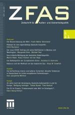 Muslim-Portal.net - News rund um Muslims & Islam | Foto: Cover der aktuellen Ausgabe 01/2011 der ZfAS - Zeitschrift für Außen- und Sicherheitspolitik.