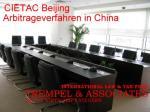 Ost Nachrichten & Osten News | Foto: Schiedsgerichtsverfahren in China: Ansprüche durchsetzen und wirksam vollstrecken.