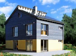 Fertighaus, Plusenergiehaus @ Hausbau-Seite.de | Hausbau & Einfamilienhaus - Foto: öko-domo Massivhaus mit hoher Energieeffizienz und so schnell wie ein Fertighaus gebaut.