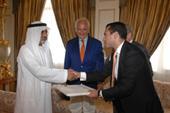 Ost Nachrichten & Osten News | Foto: Foto (v.l.n.r.): Sheikh Al Nayhan, Michael Conrad (Aufsichtsratsmitglied der reutax ag) und Soheyl Ghaemian (CEO der reutax ag).