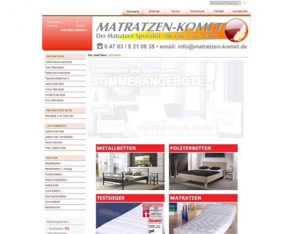 Kreditkarten-247.de - Infos & Tipps rund um Kreditkarten | Matratzen-Komet GmbH