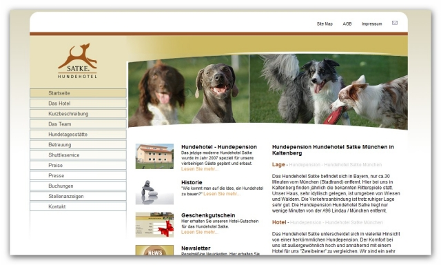 Hotel Infos & Hotel News @ Hotel-Info-24/7.de | Hundehotel - Hundepension und Hundebetreuung Satke