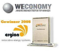 Alternative & Erneuerbare Energien News: Foto: ergion, Spezialist für umwelftfreundliche Mikro-Kraftwerke zur Steigerung der Energie-Effizienz, gehört zu den Gewinnern des WECONOMY 2008!