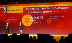 Freie Software, Freie Files @ Freier-Content.de | OpenSource Software News - Foto: Bekanntgabe des Gewinners PAVONE AG.
