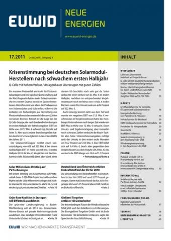 Alternative & Erneuerbare Energien News: Europäischer Wirtschaftsdienst GmbH (EUWID)