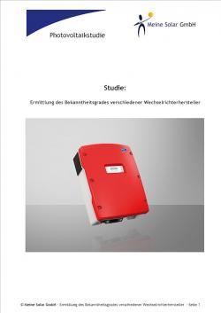 Alternative & Erneuerbare Energien News: Foto: Neue Photovoltaikstudie der Meine Solar GmbH - Ermittlung des Bekanntheitsgrades von Wechselrichterherstellern.