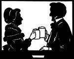 Bier-Homepage.de - Rund um's Thema Bier: Biere, Hopfen, Reinheitsgebot, Brauereien. | Foto: Richard Wagner genoss zusammen mit seiner Frau Cosima gerne ein Bier. Scherenschnitt: Archiv Bernd Mayer.