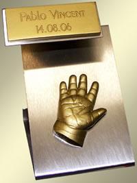 Babies & Kids @ Baby-Portal-123.de | Foto: Modell Modern 3 gold Einzelabdruck.