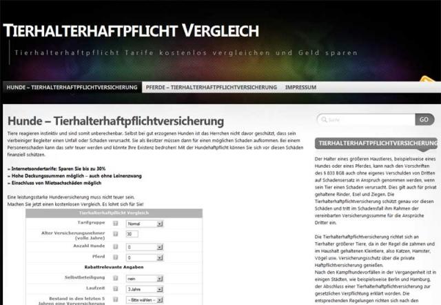 Tarif Infos & Tarif Tipps & Tarif News | Tierhalterhaftpflicht-Versicherungen.de