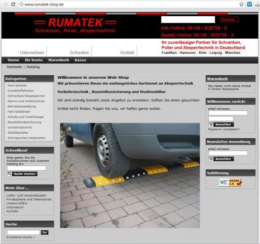 Einkauf-Shopping.de - Shopping Infos & Shopping Tipps | Rumatek GmbH Schranken, Poller, Absperrtechnik