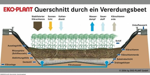 Pflanzen Tipps & Pflanzen Infos @ Pflanzen-Info-Portal.de | Querschnitt durch ein Vererdungsbeet